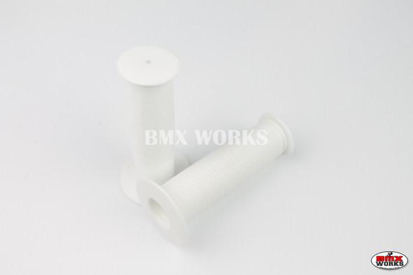 BMX Old Style Mushroom Grips White Pair