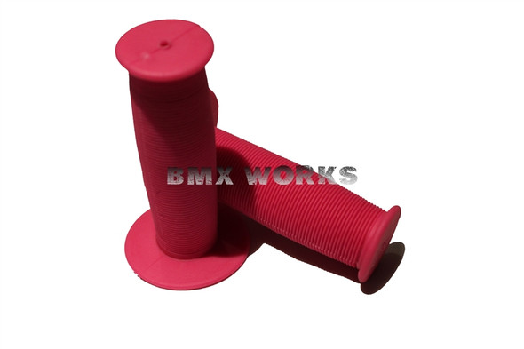 BMX Old Style Mushroom Grips Pink Pair