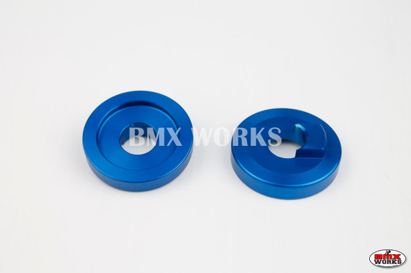 "ProBMX Alloy Front Dropout Savers for 3/8"" Axles Dark Blue Pair"
