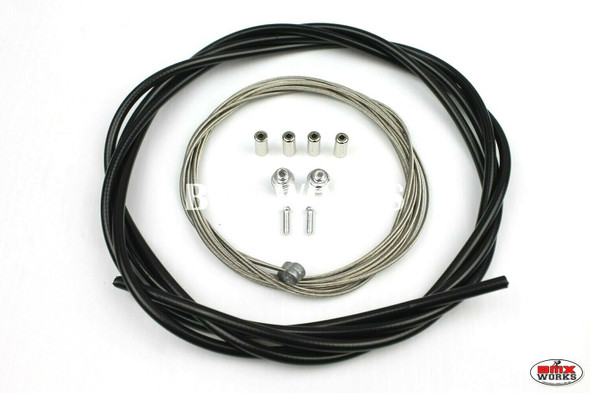 BMX Brake Cable Front & Rear Kit Black