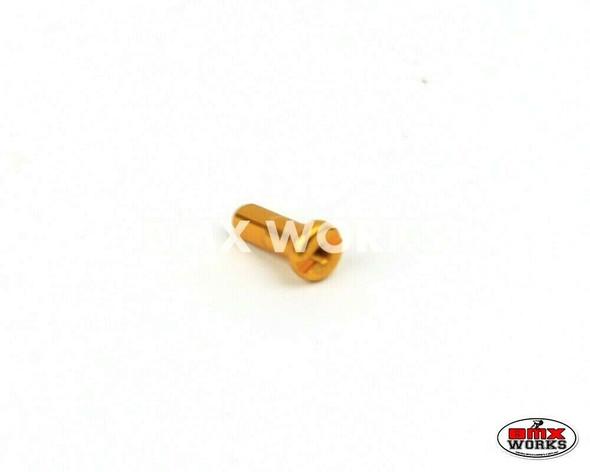 14G x 12mm Aluminium Spoke Nipples Gold - Each
