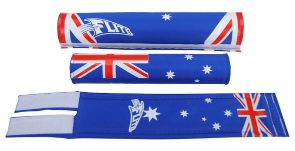 FLITE 3 Piece Nylon BMX Padset - Aussie Flag Design