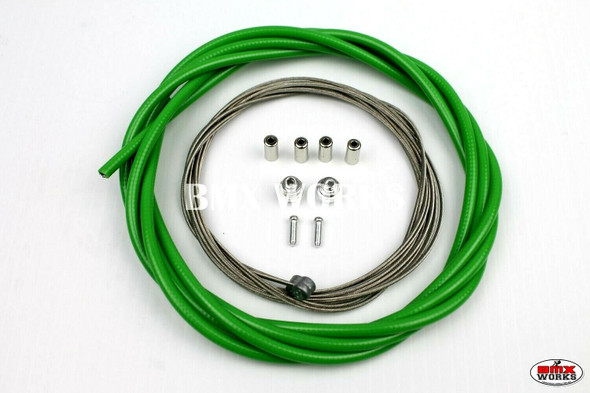 BMX Brake Cable Front & Rear Kit Dark Green