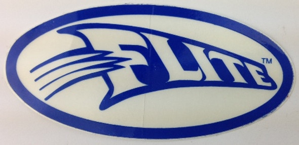 Flite Swoosh Decal - Blue on White