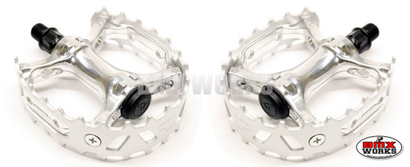 "Pedals 1/2"" VP Bear Trap Silver Pair"