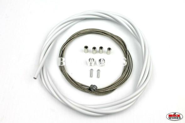 BMX Brake Cable Front & Rear Kit White