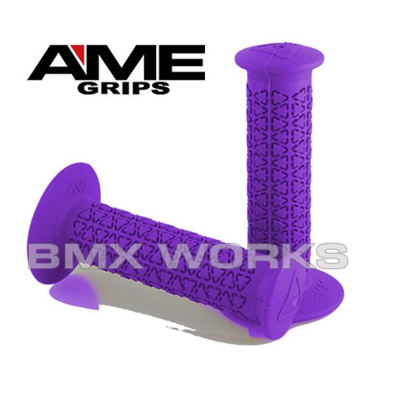 AME Grips Round Purple Pair