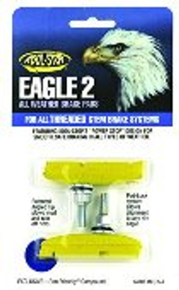 Kool Stop Eagle 2 Threaded Brake Pads Yellow - Sold In Pairs