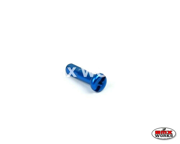 14G x 16mm Aluminium Spoke Nipples Bright Blue - Each