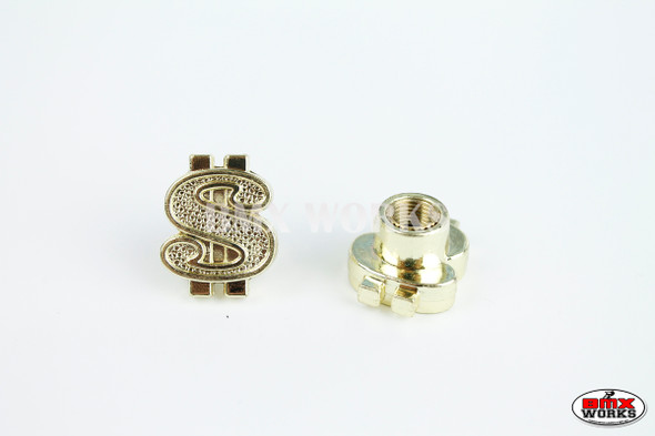 BMX Dollar Valve Caps Pairs - Gold - Old School BMX