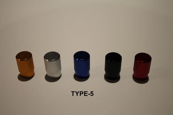 Valve Cap Type #5 Anodized Colours - 1 Pair