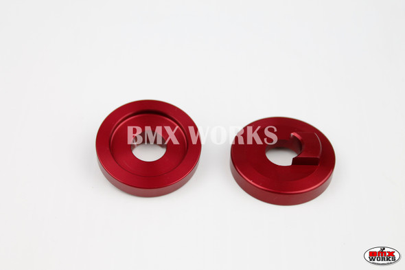 "ProBMX Alloy Front Dropout Savers for 3/8"" Axles Red Pair"