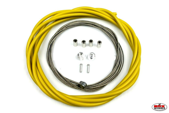BMX Brake Cable Front & Rear Kit Yellow