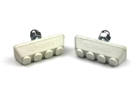 BMX Freestyle or Race Bicycle Brake Pads - White Pairs