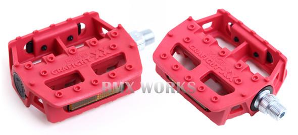 "MKS Graphite XX 9/16"" Pedals Red"