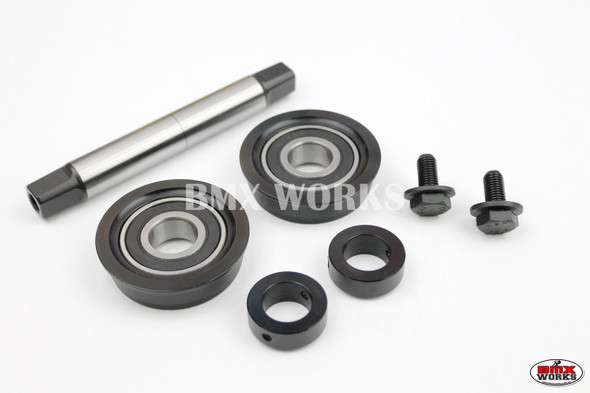 YST 3 Piece Crank Bottom Bracket Conv Kit Sealed Bearings Black