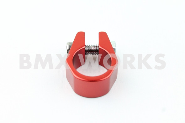 Tuf Neck Style BMX Seat Post Clamp 25.4mm Red