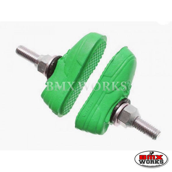Kool Stop Vans Shoe Threaded Brake Pads - Pairs Green