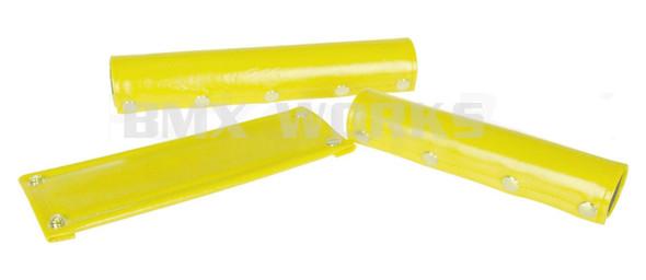 Flite 3 Piece Vinyl 5 Snap Plain Pad Set - Yellow