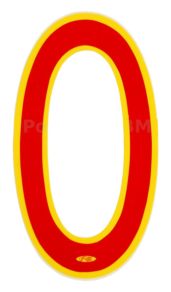 "Neal Enterprises Proline 6"" Numbers Red & Yellow"