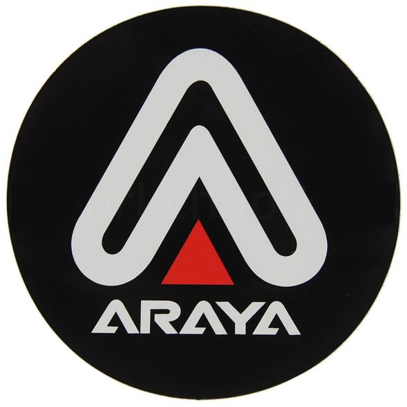 Araya Rims Japan Circle Decal 75mm White Black & Red