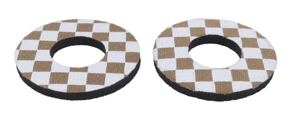 ProBMX Flite Style BMX Bicycle Foam Grip Donuts - Checker Brown & White