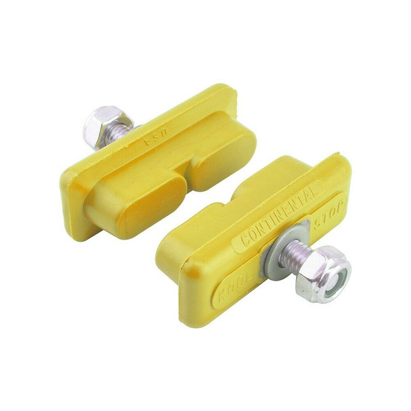 Kool Stop Continental Brake Pads Yellow - Sold In Pairs