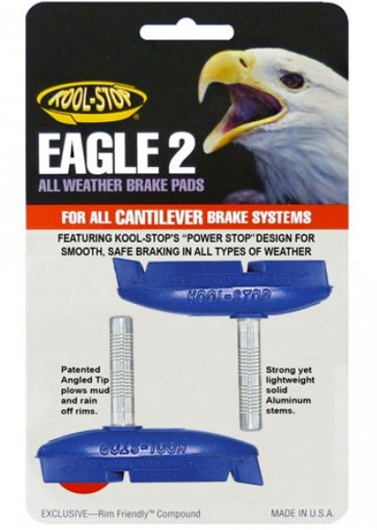 Kool Stop Eagle 2 Cantilever Brake Pads Blue - Sold In Pairs