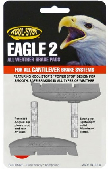 Kool Stop Eagle 2 Cantilever Brake Pads Silver - Sold In Pairs