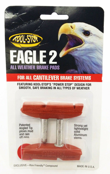 Kool Stop Eagle 2 Cantilever Brake Pads Salmon - Sold In Pairs