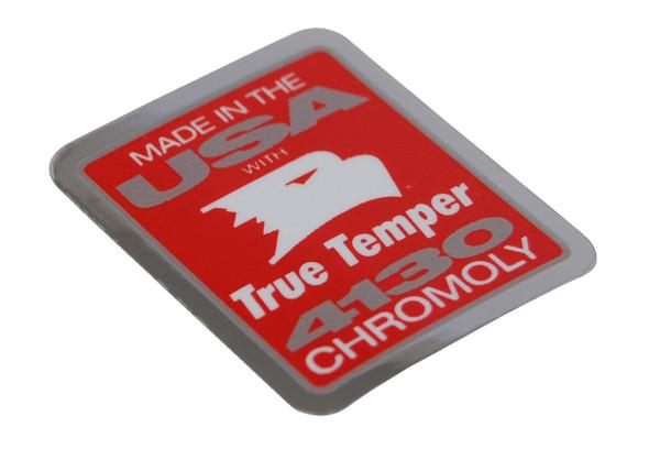 True Temper 4130 Chromoly Decal Red & Chrome