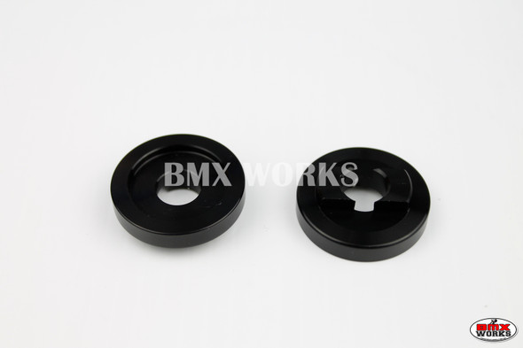 "ProBMX Alloy Rear Dropout Savers for 3/8"" Axles Black Pair"