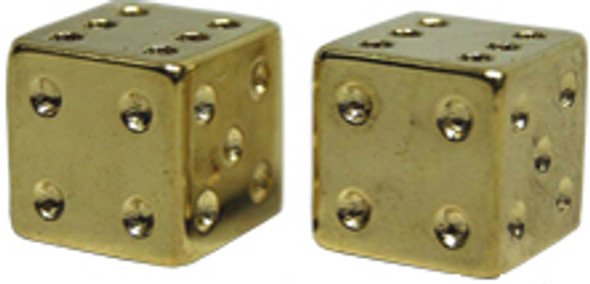 BMX Dice Valve Caps Pairs - Gold - Old School BMX