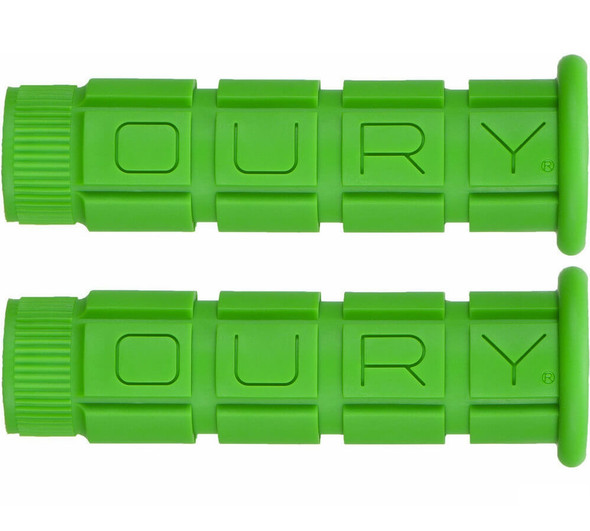 Oury Downhill Freestyle Grips - Green Pair