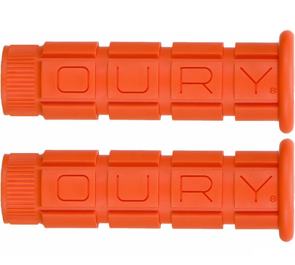 Oury Downhill Freestyle Grips - Orange Pair