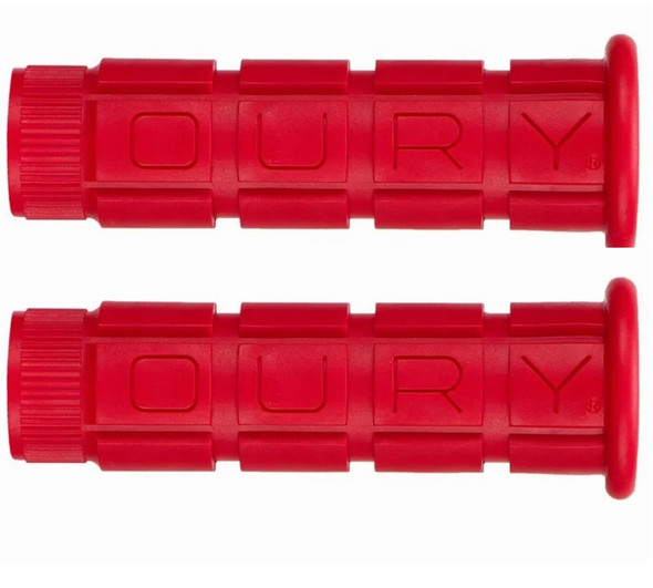 Oury Downhill Freestyle Grips - Red Pair