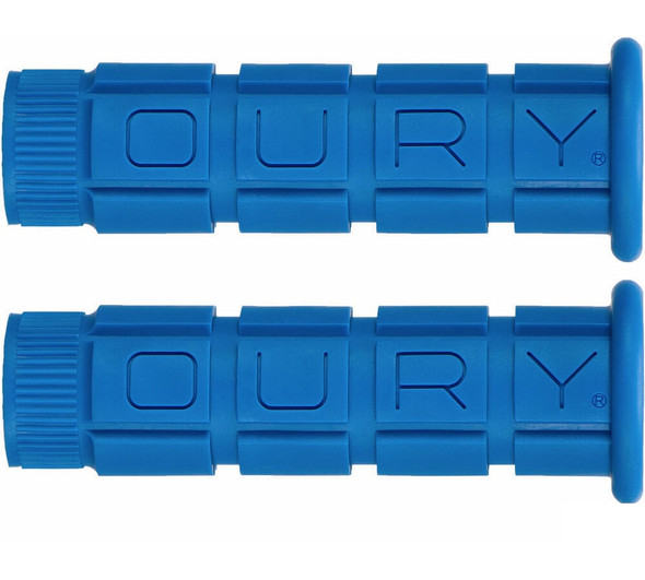 Oury Classic Mountain Bike Grips - Blue Pair