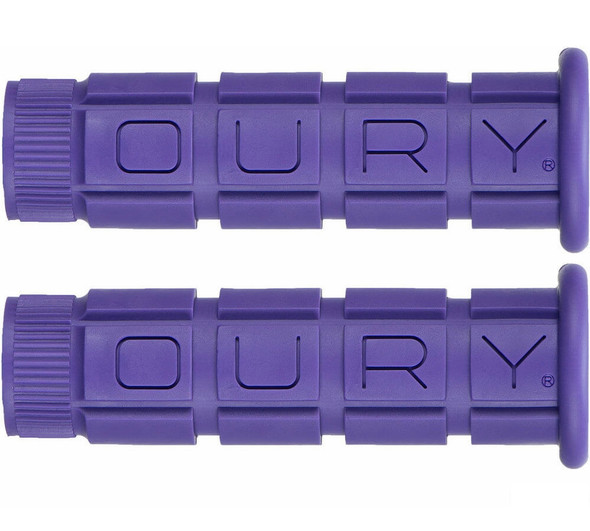 Oury Downhill Freestyle Grips - Purple Pair