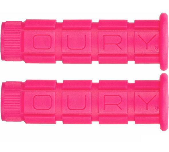 Oury Downhill Freestyle Grips - Hot Pink Pair