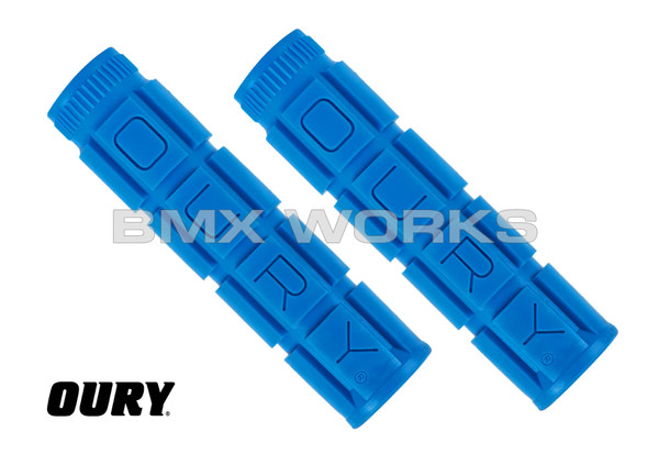 Oury Downhill V2 Freestyle Grips - Blue Pair
