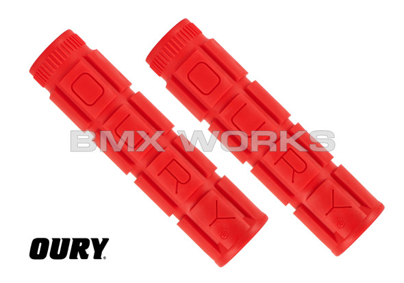 Oury Downhill V2 Freestyle Grips - Red Pair
