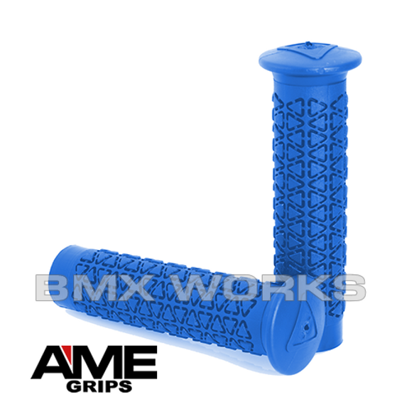 AME Freestyle Round Grips - Blue Pair