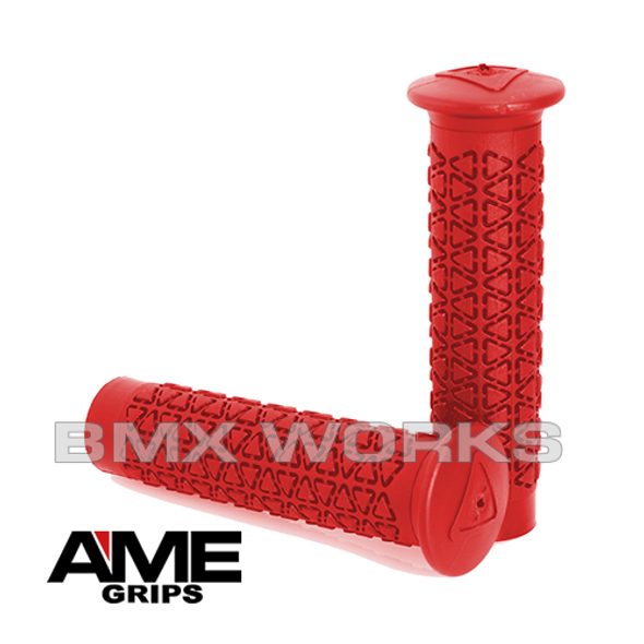 AME Freestyle Round Grips - Red Pair