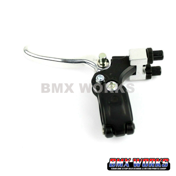 Tech-77 Double Pull Right Hand Lever - Silver & Black