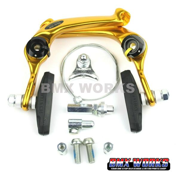 Dia-Compe AD-996 U-Brake Caliper - Gold