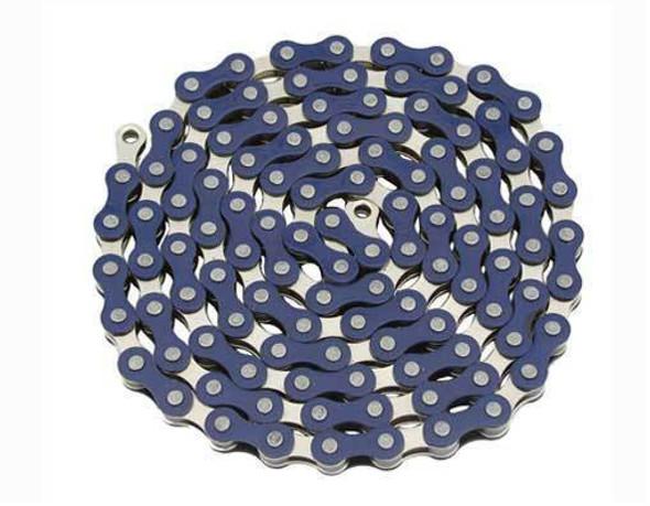 "Yaban 1/2"" x 1/8"" x 112 Link Blue & Nickel Chain"
