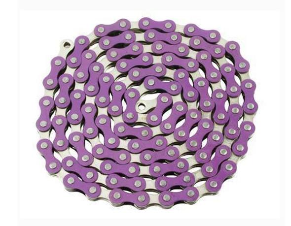 "Yaban 1/2"" x 1/8"" x 112 Link Purple & Nickel Chain"