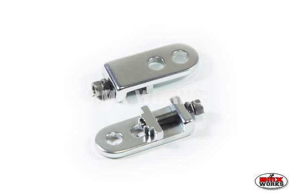 "Chain Tensioners Silver Suit 3/8"" Axles (Pair)"