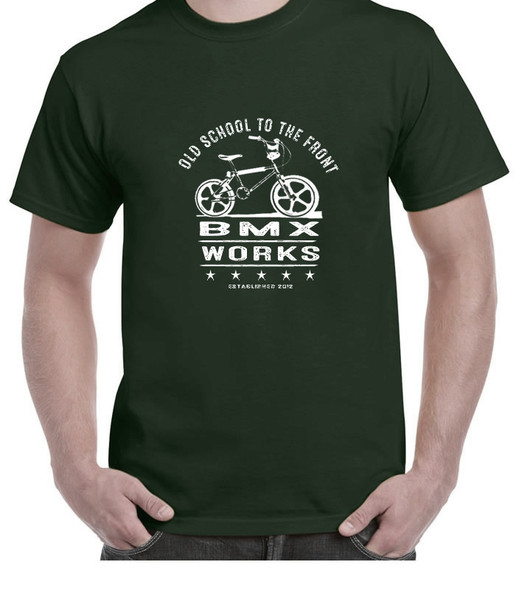 ProBMX Retro Old School T-Shirt - Forest Green