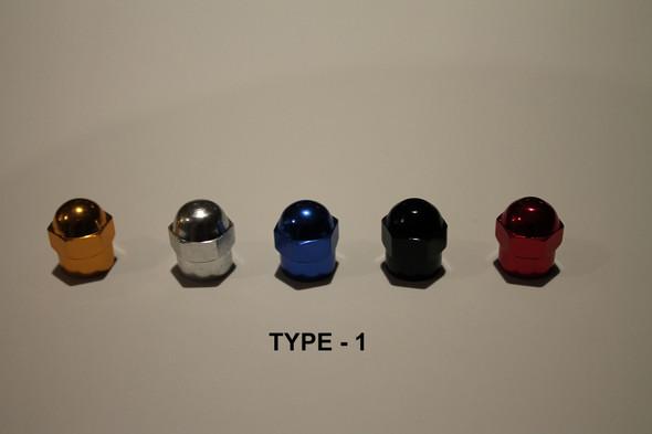 Valve Cap Tyre #1 Anodized Colours - 1 Pair